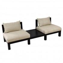 """90""""Sofa 2 Seats Blk Frame/Line"""