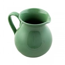 PITCHER-CERAMIC-GREEN CRACKLE-