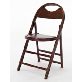 CHAIR-Wood folding vintage/cur