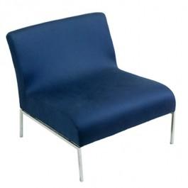 Nvy Armless Chair/Chrome Frame