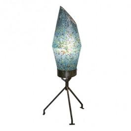 FLOOR LAMP-70's Retro Blue Speckled Plastic