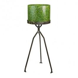 FLOOR LAMP- Retro 70's Green Speckled Plastic