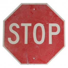 """SIGN-STOP-24""""RED-ALUM-TRAFFIC"""