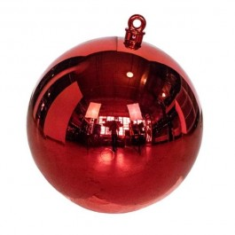 """CHRISTMAS ORNAMENT-24""""D Shiny Red Hanging"""