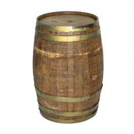 BARREL-Wooden W/Brass Bands
