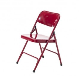 CHAIR-FOLDING-METAL- RED