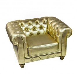 CHAIR- Club Gold Chesterfield
