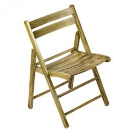 Folding Chair Double Slat Back