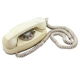 VINTAGE PHONE-Off White Rotary House Phone