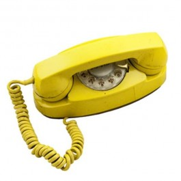 Yellow 70's Rotary Phone