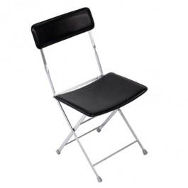 Folding Chair/Chrome & Black