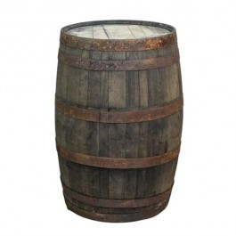 WHISKEY BARREL-Rustic W/Rusted Bands