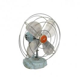 FAN-Vintage Blue Zero Fan w/Red Center