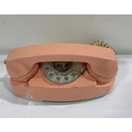 VINTAGE PHONE-Salmon Colored Rotary House Phone