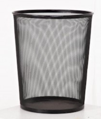 WASTEPAPER BASKET-BLACK WIRE