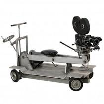 Lrg Movie Camera W/Seat