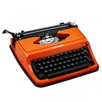 TYPEWRITER-ORANGE PORTABLE