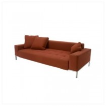 SOFA-RUST-QUILTED SEAT-ST