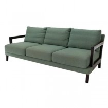 SOFA-Green Boucle-Blk Arm