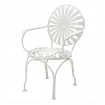 SIDE-CHAIR WHT METAL STARBURST