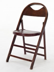 CHAIR-Wood folding vintage/cur