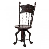 SIDE CHAIR-Vintage Carved Swivel