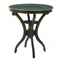 "TABLE-SIDE-30""BLUE W/YW TRIM-S"