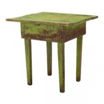 TABLE-GREEN WOOD 28SQ W/STRAIG