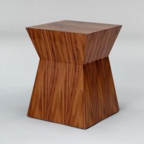 STOOL-WALNUT-ANGLED IN SIDES