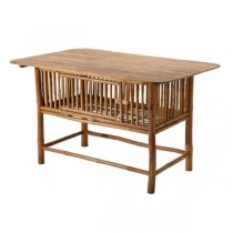 TABLE-KITCHEN-BAMBOO W/STORAGE