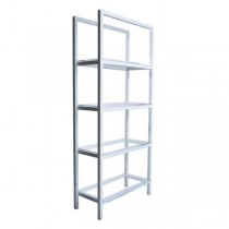 SHELF-WHITE-4 PLEXI SHELVES