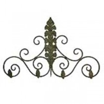 Metal scroll/leaf coat rack for wall