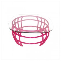 TABLE-COFFEE-PINK BAMBOO BASE