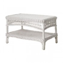 TABLE-COFFEE-WHITE WICKER