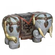 Garden Seat- RAF Blue Ceramic Elephant