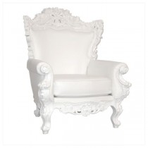 CHAIR-THRONE-WHITE VINYL-WHITE