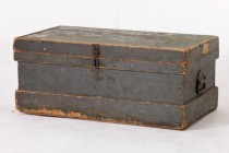 TRUNK-Green/Grey Wood Chest