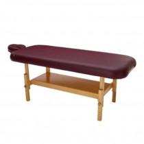 MASSAGE TABLE-NAT-BURGUNDY LEA