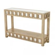 TABLE-CONSOLE-LIMED OAK-MIRROR