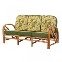 SOFA-RATTAN-GREEN BIRD PATTERN