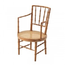 CHAIR-ARM-FAUX BAMBOO W/CANE S