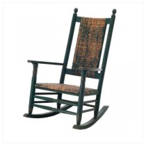 CHAIR-ROCKING-WOVEN SEAT
