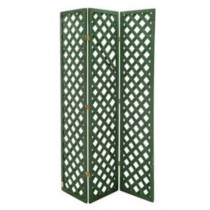 SCREEN-3PANEL GREEN WOOD