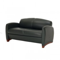 LOVESEAT-OLIVE LEATHER-57""