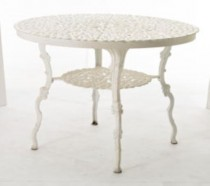 TABLE-WHT FLORAL CAST F