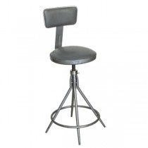 STOOL-GREY SEAT W/METAL