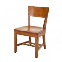CHAIR-SIDE-LT OAK-SMOOTH CURVE