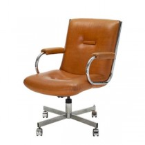 CHAIR-OFFICE-TAN-50'S-PADDED A