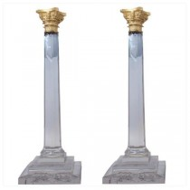 PILLAR HOLDER-GOLD-KEY ACCENTS