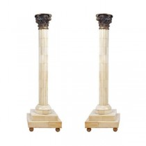 CANDLEHOLDER-WHITE-GOLD TOP